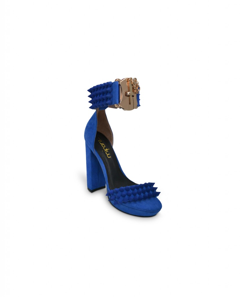 mifani_cobalt_blue_coned_spiked_shoes_with_buckle_back